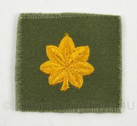 US Army kraag insigne met rang Major - WO2 tot en met Vietnam oorlog - afmeting 5 x 5 cm - origineel