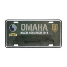 Nummerplaat Omaha Beach Normandie 1944