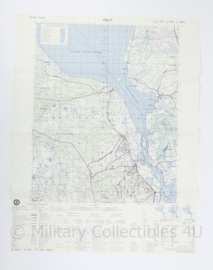 USA Defence mapping agency stafkaart Poland Police M753 2225II - 1 : 50.000 - 74 x 58 cm - origineel