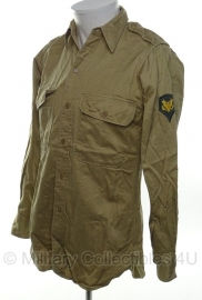 US Army Enlisted Khaki Shirt - Specialist - size XS - origineel Vietnam oorlog