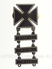 US Rifle Marksman Qualification badge - compleet