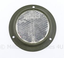 Defensie voertuig reflector wit - diameter 9 cm - origineel