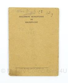 Handleiding Reglement Betreffende de Krijgstucht 1931 - afmeting 10 x 15 cm - origineel