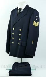 Koninklijke Marine daags blauwe jas met broek 1989 - medische dienst - Sergeant-Majoor  -maat 51- origineel