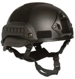MICH 2002 helm met rail - zwart