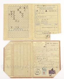 WO2 Nederlandse stamkaart set - 1939 - origineel