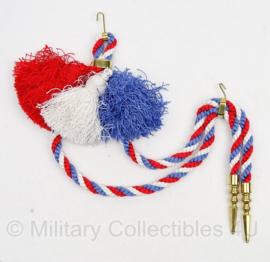 Paradekoord Nederlands rood/wit/blauw