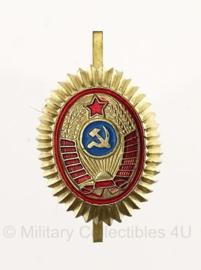Russische Politie officiers pet insigne metaal - origineel