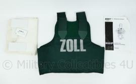 Duitse Zoll Douane groen kogel- en steekwerend vest met ballistische inhoud en hoes en extra wit vest NIEUW - model P7 - merk BSST - maat 54 -  origineel