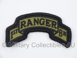 US Army OCP SSI patch - 1st Ranger Bn - met klittenband - voor multicamo uniform - origineel