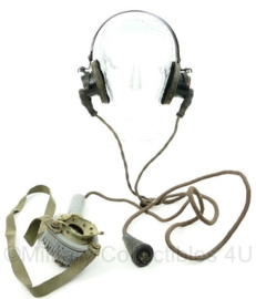 Ww2 British Royal Navy Tannoy Hand held Microphone microphone hand Power type 1Amet headset - zeldzaam - origineel