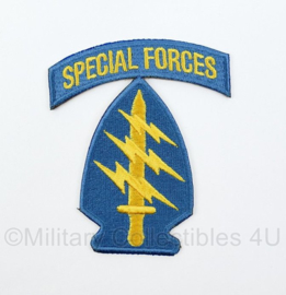 US Army Vietnam Special Forces patch met tab - 9 x 7 cm
