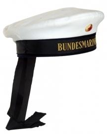 """Witte Matrozen muts met band """"Bundesmarine""""- origineel"""