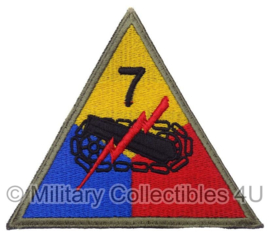"US 7th armored division ""Lucky Seventh""patch cut edge - replica"