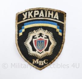 Oekraïens politie embleem MBC Ukraine Ykpaiha MBC - 12 x 9,5 cm - origineel