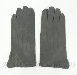 KL Nederlandse leger Dames handschoenen grijs leer - nieuw in verpakking - maat 10 - origineel