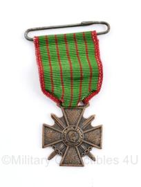 Zeldzame mini versie van de Franse Croix de Guerre - 5,5, x 3,5 cm - originel