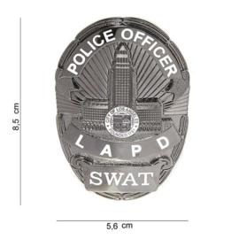 Police Officier LAPD SWAT Badge zilver - 8,5 x 5,6 cm