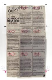 Orifo Flameless Heater Orifo Chemical heating bag The outdoor heater Solution - voor eten - snel je eten verhitten zonder vuur - origineel