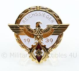 Replica WO2 Duitse medaille HJ Reichssieger 1939 im Gold