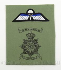 KM Marine Korps Mariniers borstzak logo met parawing - decoratie - afmeting 14 x 18 cm - origineel