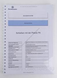 BW Bundeswehr handbuch handboek pistole P8 - versie 2017 - origineel
