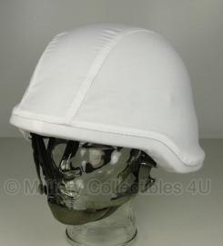 KL Nederlandse leger sneeuw wit helmovertrek - maat Large -  licht gebruikt - origineel