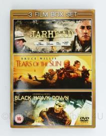 DVD box met 3 films  - Jarhead, Tears of the sun en Black Hawk down - nieuw - 19 x 13,5