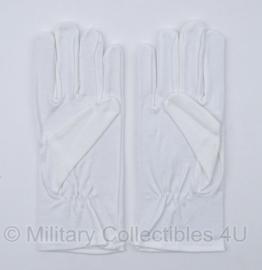 Nederlands leger katoenen Handschoen katoen wit GLT- nieuw in verpakking - maat 9,5 of 10 - origineel