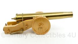 Zeldzaam officieel geschenk Nederlandse militair - 40MM huls als kanon -49x16x13cm - decoratie - van goede kwaliteit-  origineel
