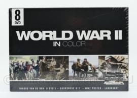 DVD giftset World War II in color -   8 dvd's -  speelduur 480 minuten - nieuw - origineel