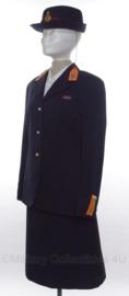 """KL MA """"militaire academie"""" dames uniform set jasje, rok en hoed - maat 38/40 - origineel"""