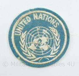 United Nations embleem vroeg model vilt - diameter 7 cm - origineel