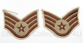 USAF Air Force rang emblemen paar Staff Sergeant voor Desert uniform - 10,5 x 9 cm - origineel