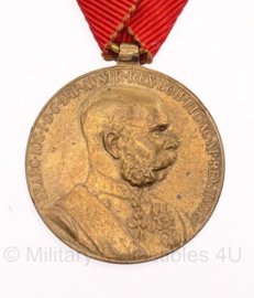 "Oostenrijkse Jubileum-herinneringsmedaille Ungarn Franz Joseph (1848 - 1916) ""Signum Memoriae""- origineel - metaal"