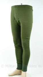 Noorse Leger en Korps Mariniers nieuwe model onderbroek lang groen - Maat 8 - origineel