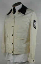 Gemeente politie jas zomer -  Dames - wit met donkere of witte kraag - maat 42 - origineel - (art.nr. 6)