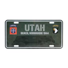 Nummerplaat Utah Beach Normandie 1944