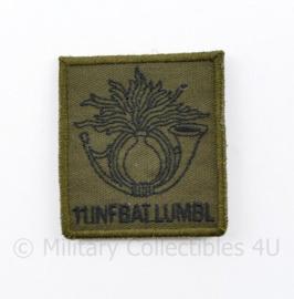KL Nederlandse leger 11 INFBAT LUMBL 11 Infanteriebataljon Luchtmobiel borstembleem - met klittenband - 5 x 5 cm - origineel