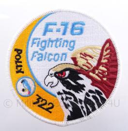"KLu Koninklijke Luchtmacht embleem F-16 Fighting Falcon ""Polly 322"" - met klittenband - diameter 10 cm"