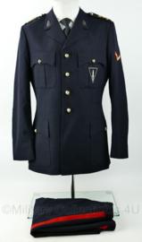 Korps Mariniers Barathea met broek  1974 met zeldzaam Belgisch Commando embleem op de borst - Marinier 1e klasse - maat 48 - origineel