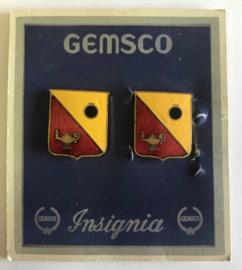 US  unit crest Paar metaal - maker GEMSCO - origineel