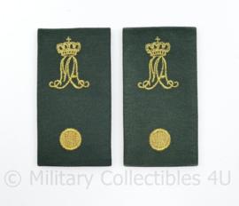 MA Militaire Academie epauletten paar DT2000 Adjudant - 9,5 x 5 cm - origineel