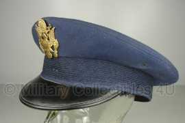 US Air Force visor cap Blauw met insigne - maat 7 5/8 = 61 - origineel