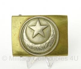 Turks Ottomaans koppelslot - Ottoman belt bucle - origineel WO1