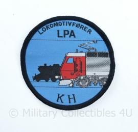 Deense Spoorwegen Lokomotivforer LPA KH embleem - diameter 7,5 cm - origineel