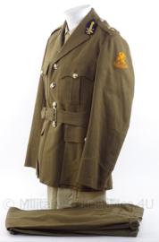 """KL Koninklijke Landmacht Officiers DT jas en broek """"rijdende artillerie"""" - rang """"Eerste Luitenant"""" - jaren 60 - maat 48 - origineel"""