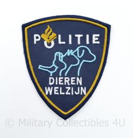Nederlands Politie embleem Dieren Welzijn - 10 x 9 cm - origineel