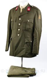 Nederlands leger DT set jas en broek - Intendance - rang Adjudant - maat 54 1/2 - origineel