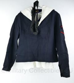Koninklijke Marine jaren 50 en 60 matrozen uniform set met sportwitje van 1 persoon  - maat 54K - origineel